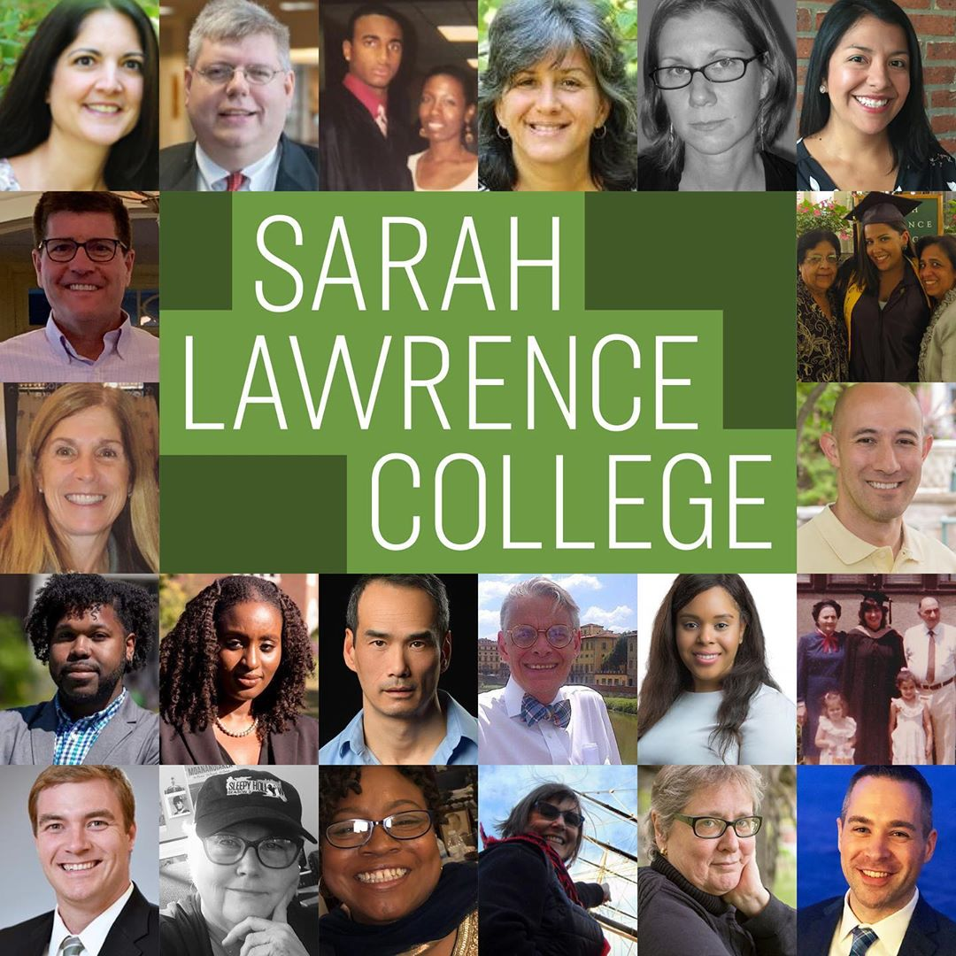 Photo by Sarah Lawrence College on November 08, 2020. Image may contain: 24 people, text that says 'SARAH LAWRENCE COLLEGE'.