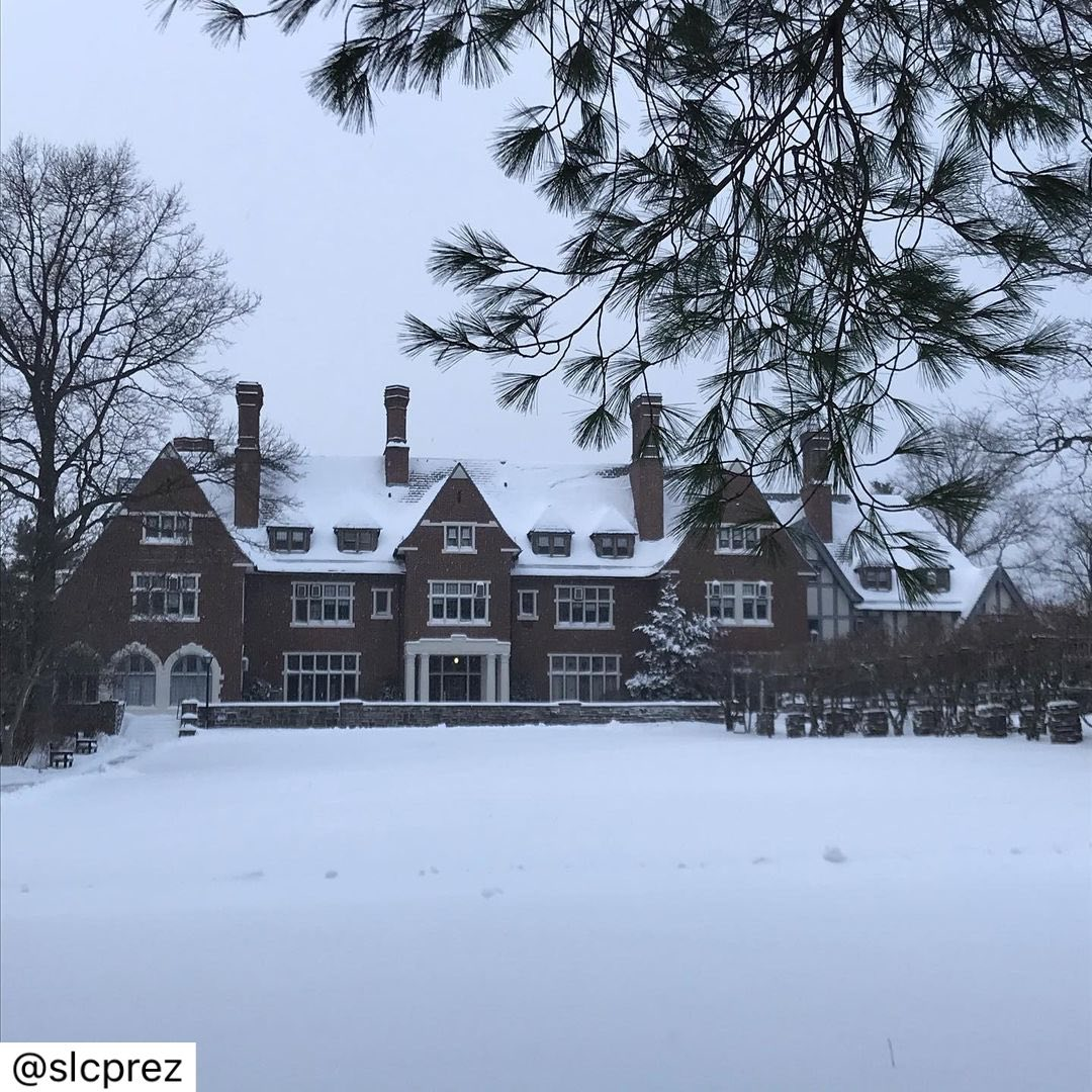 Photo by Sarah Lawrence College on December 17, 2020. Image may contain: tree, house, sky, outdoor and nature.
