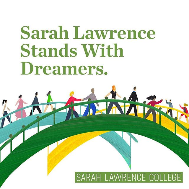 Today's SCOTUS decision is a step forward and we urge Congress to pass comprehensive immigration reform. A proud signatory of an amicus brief filed with the Court in support of #DACA and its recipients, Sarah Lawrence strongly affirms the contributions Dreamers and their peers have made at SLC and at colleges and universities across the country, and we recognize and affirm the promise they hold as vibrant members of American society. Sarah Lawrence does not take into account immigration status in its admission decisions. The College will not participate voluntarily in any effort by federal authorities to take action against a member of its community on the basis of citizenship status, nor will it voluntarily provide information about the documentation status of any student. #scotus #dreamers #sarahlawrencetogether