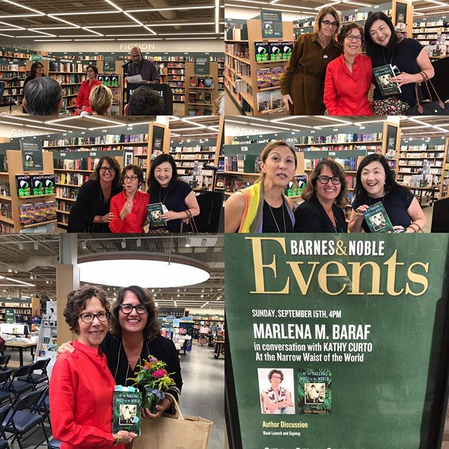 "@writinginstsarahlawrencecoll celebrates our very own Marlena Madura Baraf at @barnesandnoble in Scarsdale for the book launch of her gorgeous memoir ""At the Narrow Waist of the World."" #amwriting #amreading #booklaunch"