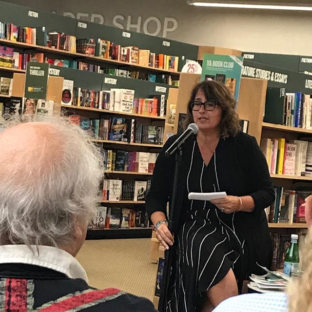 "Our @kathy.curto talks with @marlenamadurobaraf at her book launch for her magnificent  memoir, ""At the Narrow Waist of the World."" #memoir #family #mother #amwriting #amreading #ilovesarahlawrence #mother"