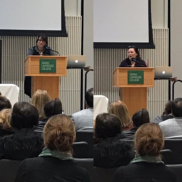 Published Student Reading: Author and WI Faculty, Kathy Curto, introduces, WI student and author, Paula Fung. #amwriting #amreading #writingcommunity #ilovesarahlawrence