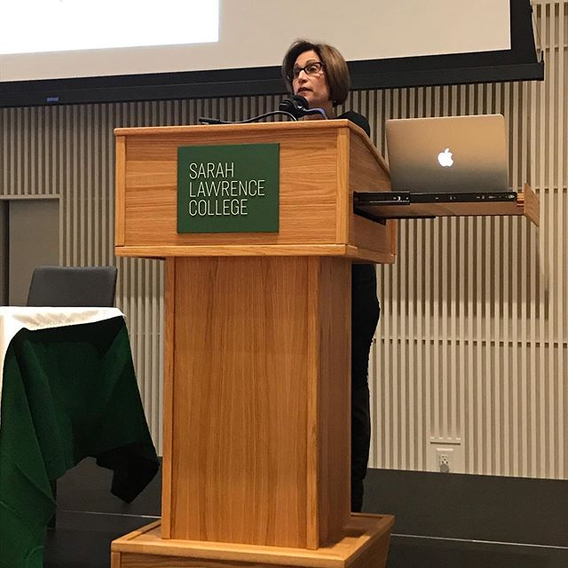 Thank you Nan Mutnick for the inspiring introduction to tonight's event. A great tribute to our community of writers. #ilovesarahlawrence #amwriting #writingcommunity