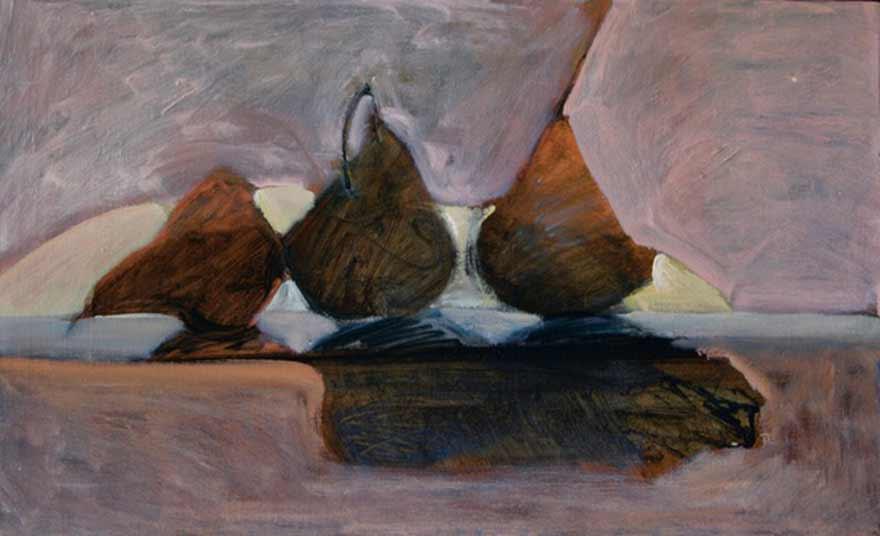 Painting, Light between 3 pears