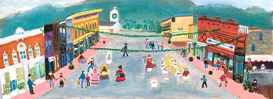 Painting, Georgetown Christmas Market
