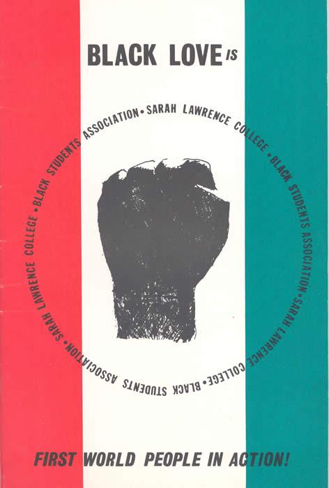 Black Students Association Brochure Cover, n.d. (Sarah Lawrence College Archives)