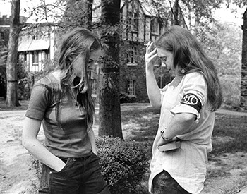 Students Participating in the National Student Strike, 1970. Photographer Unknown. (Sarah Lawrence College Archives)