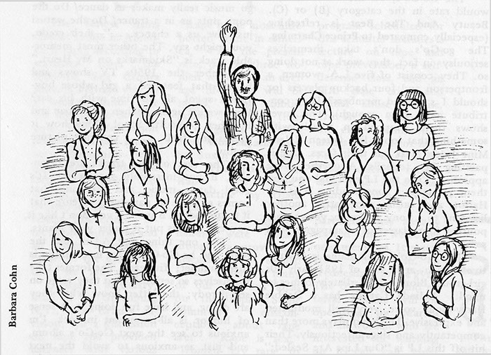 The Tribune, February 4, 1982. Illustration by Barbara Cohn.
