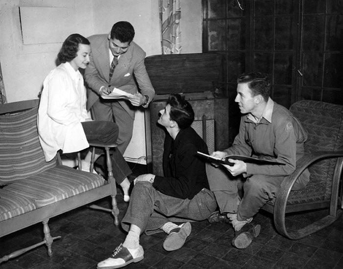 Veteran Jack Barnes (far right). Photographer Unknown.