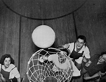 Basketball Game, Yale vs. Sarah Lawrence, March 14, 1939. Sarah Lawrence College Yearbook 1938-1939.
