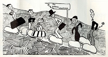 Cartoon by S. Wallace. The Campus, February 12, 1934. (Sarah Lawrence College Archives)