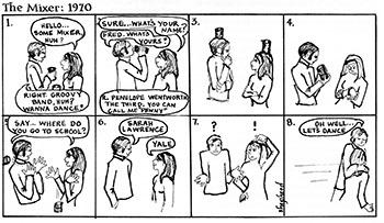 Alumnae/i Magazine, Spring 1969. Cartoon by Margaret Shepherd '69.