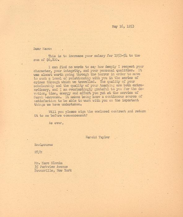 Marc Slonim Faculty File
