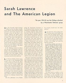 Alumnae/i Magazine, Fall 1951.