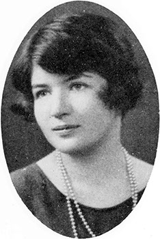 Mary Dublin (Barnard College Class of 1930) yearbook photo from Barnard College. (From The Mortarboard 1930, p. 126. Credit: Barnard College Archives).