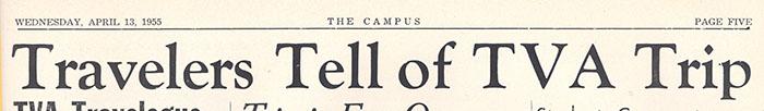 The Campus, April 13, 1955.
