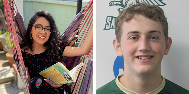 Sofia Aguilar '21 and Henry Bethell '22, 2021 Recipients