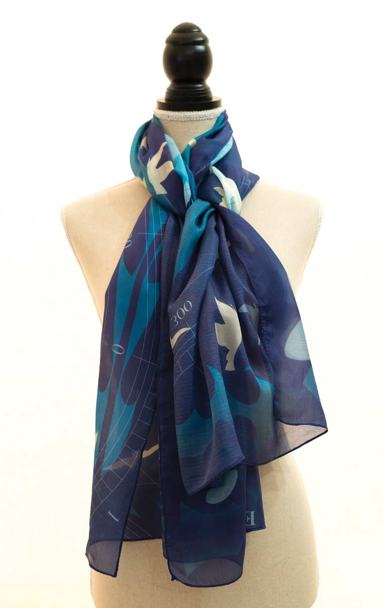 Photo of scarf designed by the artist
