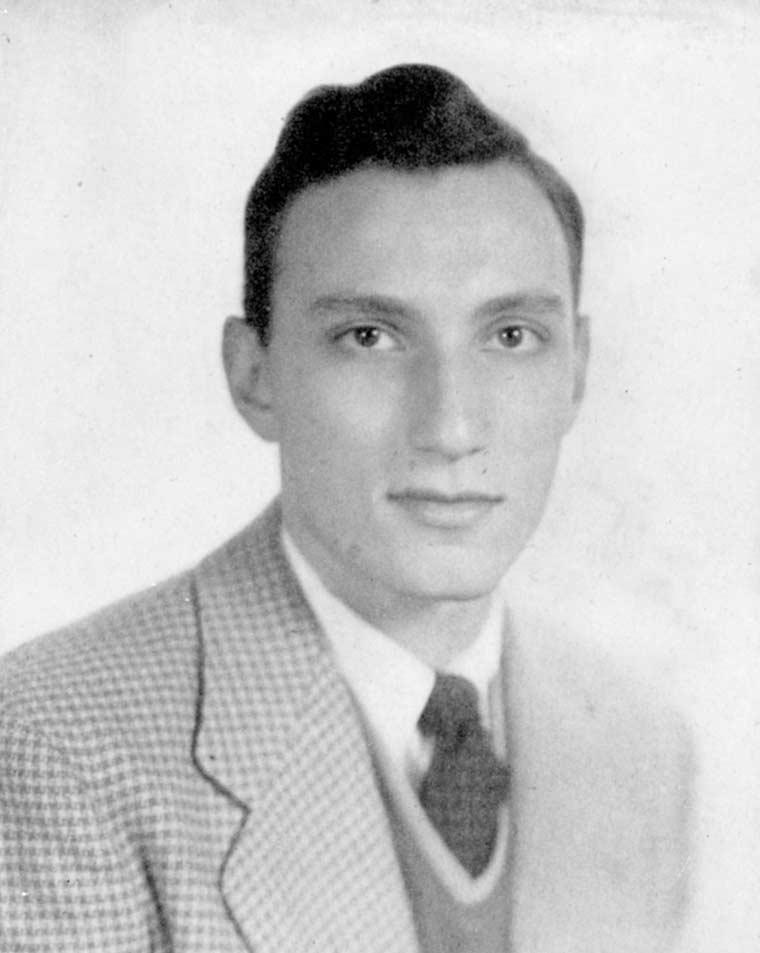 Yearbook photo of Howard Goodman