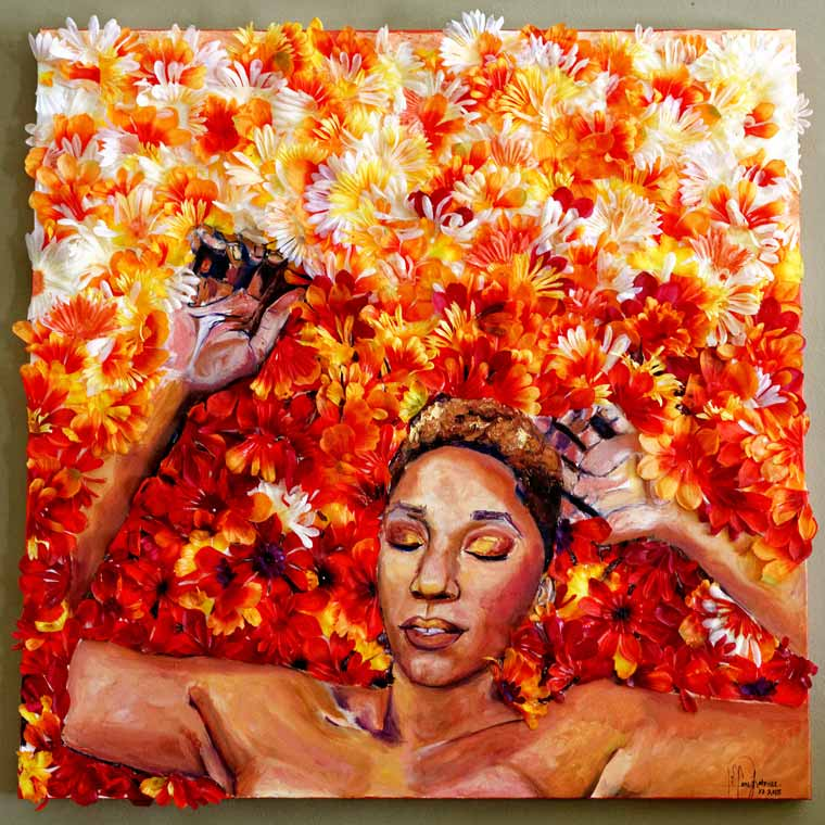 Blossom, a self-portrait by Tiffany-LaTrice Williams '14