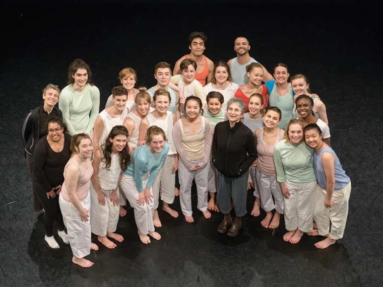 Sara Rudner and students