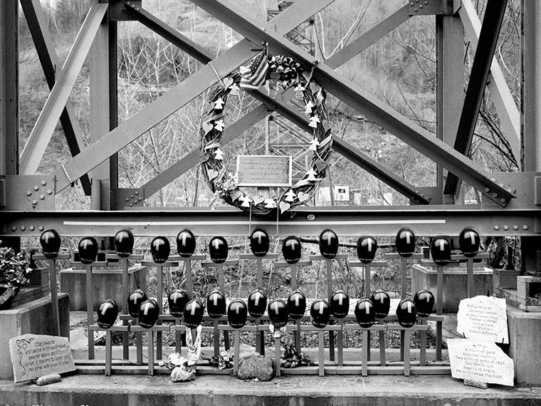 Upper Big Branch Mine Memorial. Photo credit: Andrew Lichtenstein. Used with permission.