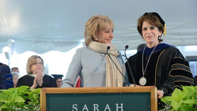 Barbara Walters and Karen Lawrence