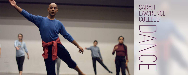 Dancers practice together
