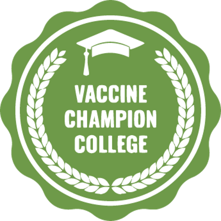 logo that says: Vaccine Champion College