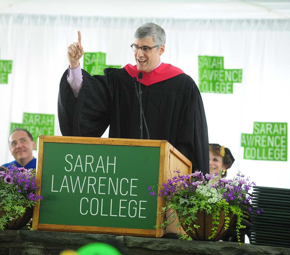 Mo Rocca, commencement speaker at Sarah Lawrence College 2016