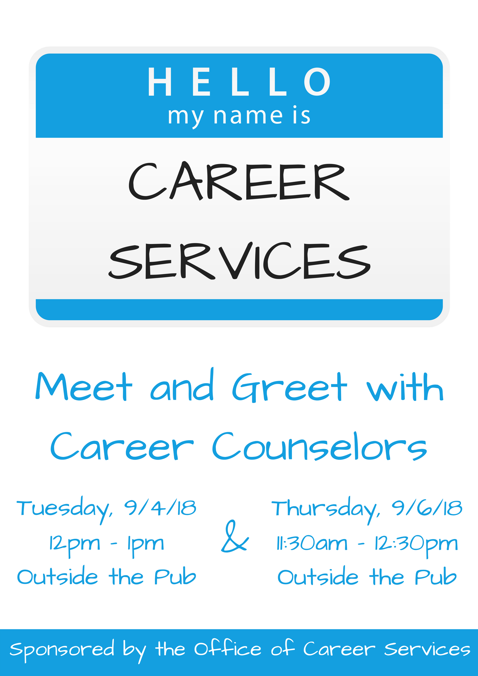 Hello My Name is Career Services