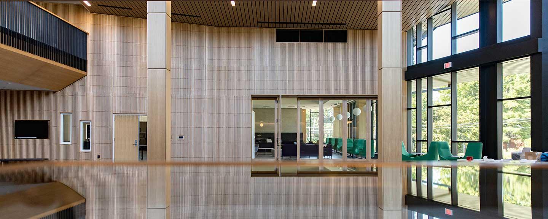 Barbara Walters Campus Center Atrium