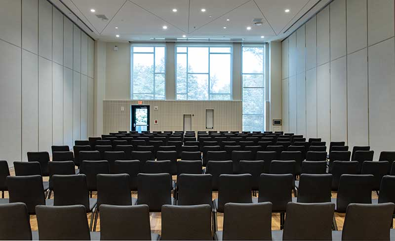 Seating set up for a lecture
