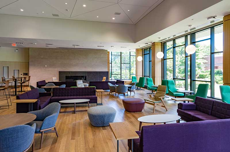 The Living Room in the Barbara Walters Campus Center