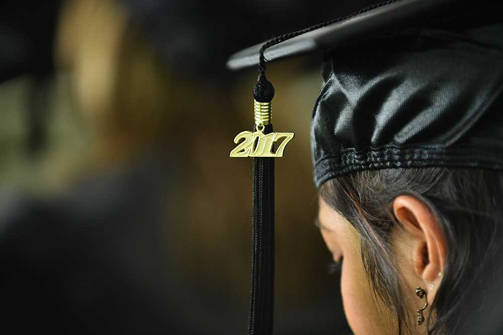 2017 tassel on graduation cap