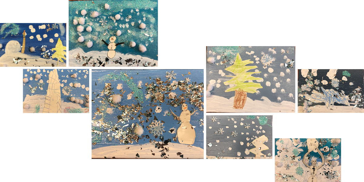 Winter scenes created by the students of the Early Childhood Center—an annual tradition. #SarahLawrenceTogether