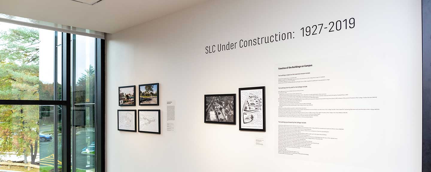 Exhibit on construction at Sarah Lawrence College