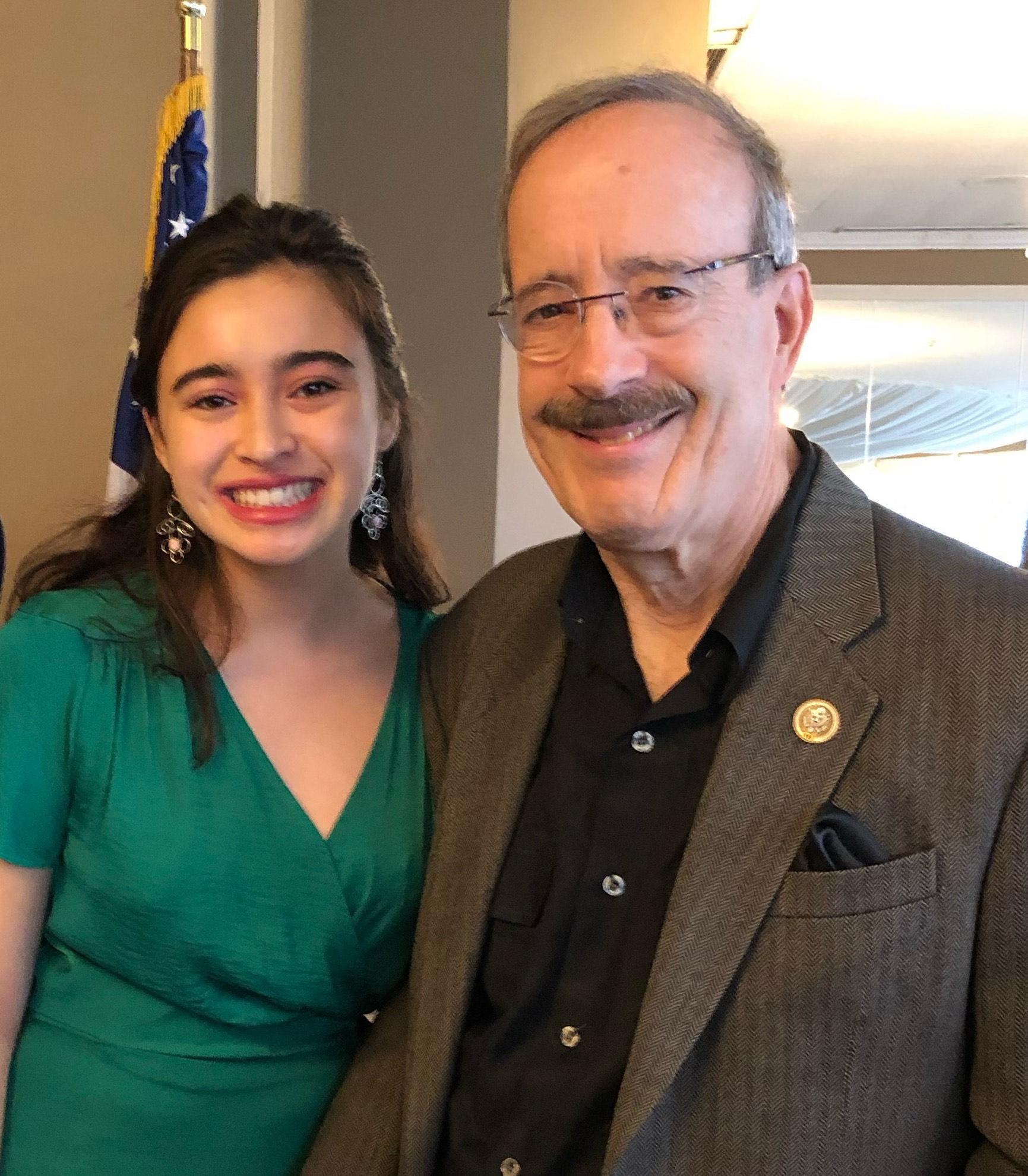 Lauren Cuevas and Congressman Engel