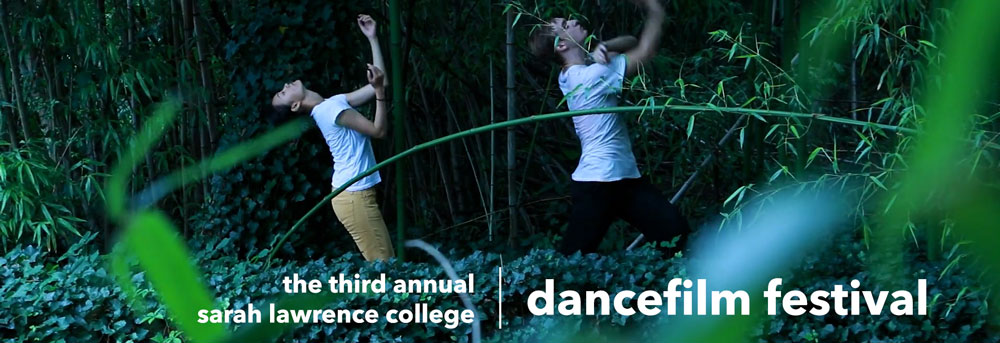 Students dancing amongst the bamboo