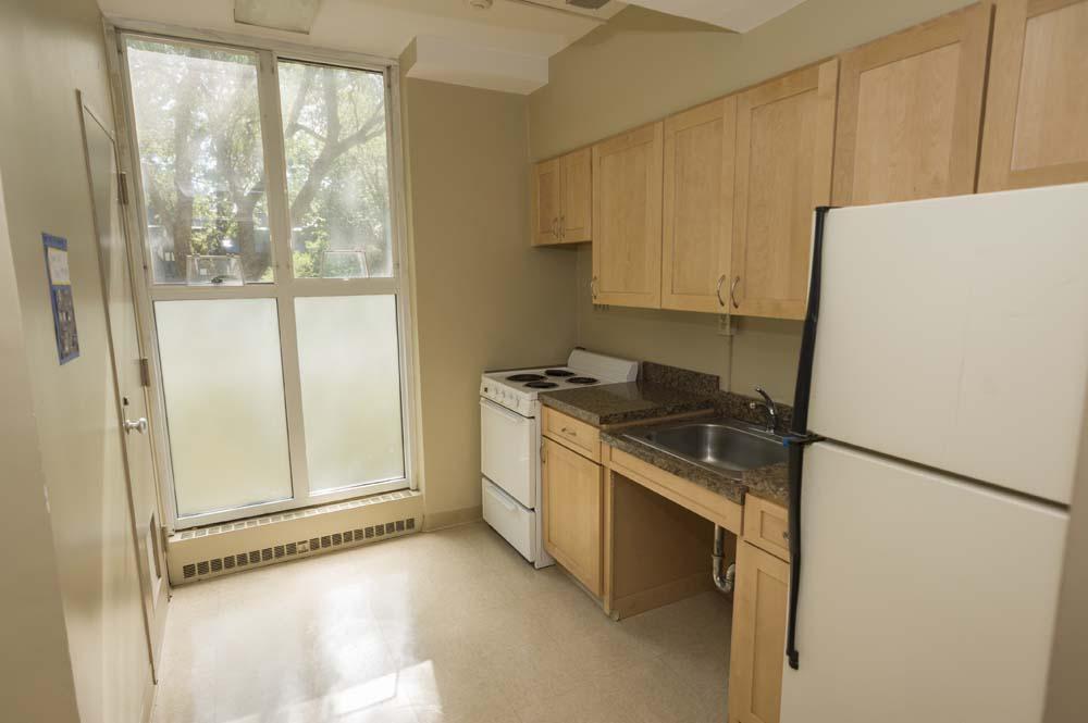 Garrison dorm room kitchen
