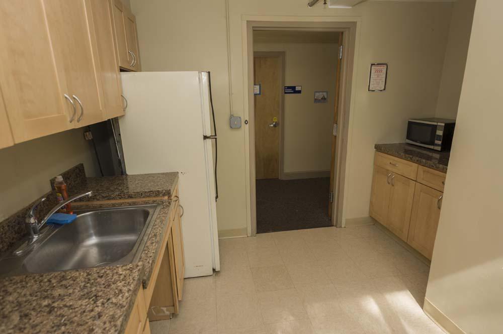 Garrison dorm kitchen