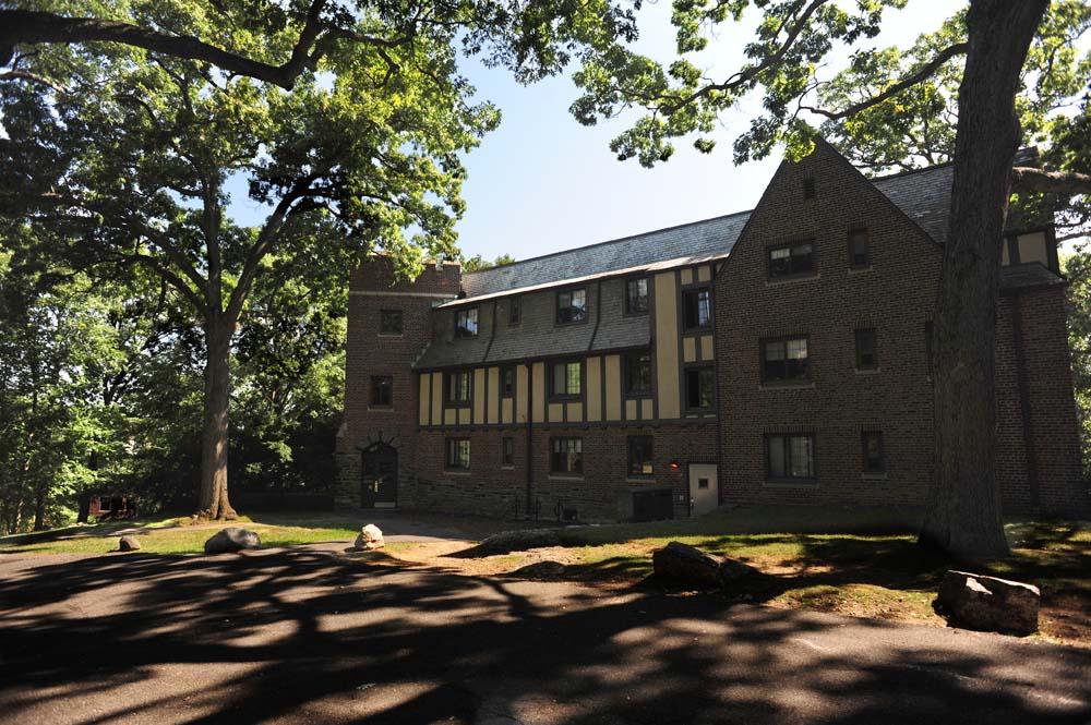 Tudor style OSilas building exterior