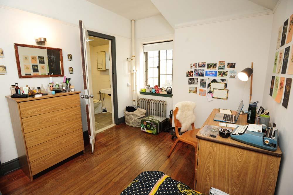 MacCracken dorm room with a bathroom