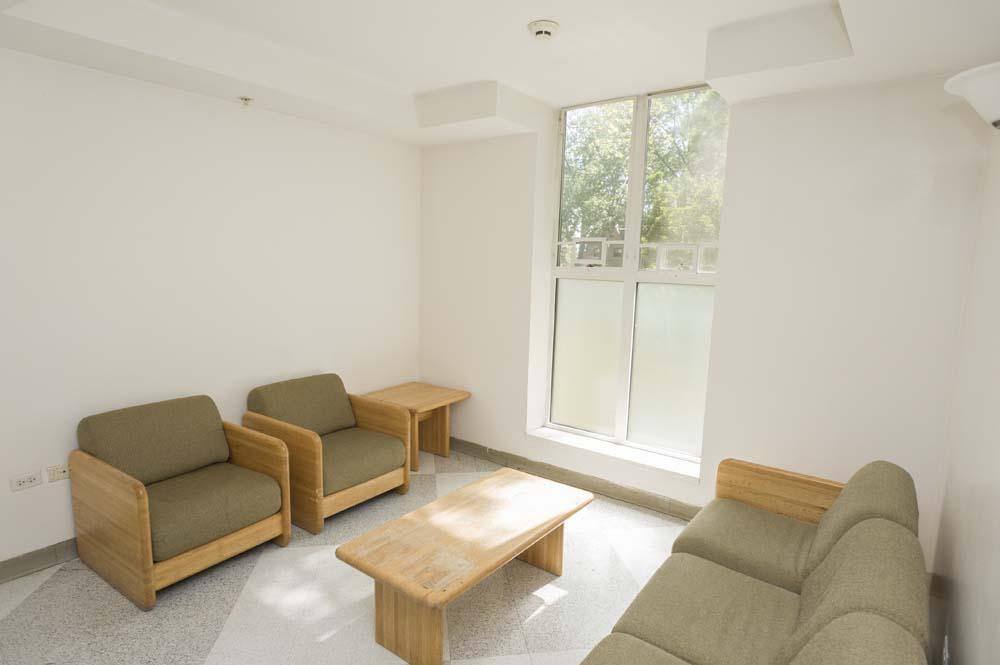 Rothschild dorm common area with seats