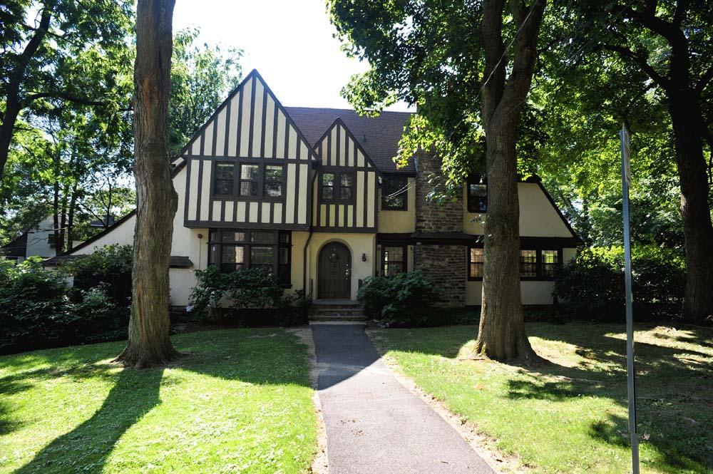 Tudor-style Schmidt dorm home exterior