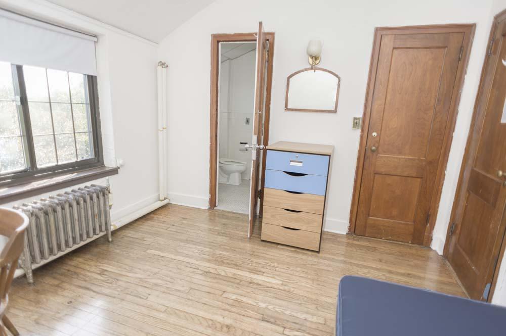 Titsworth dorm room with a bathroom