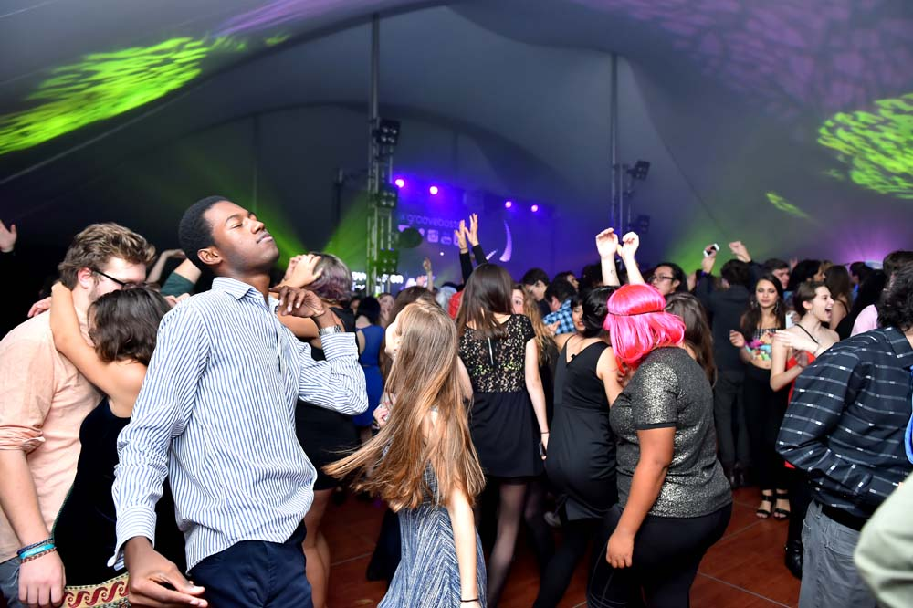 students dancing at the Fall Formal