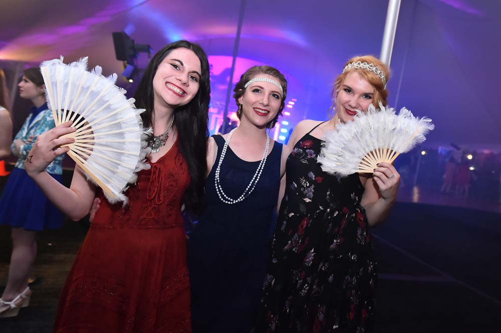 three students at the 2015 Spring Formal