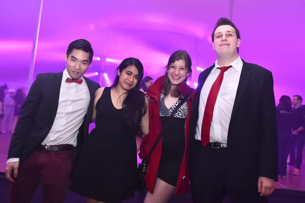four students during the 2015 Spring Formal