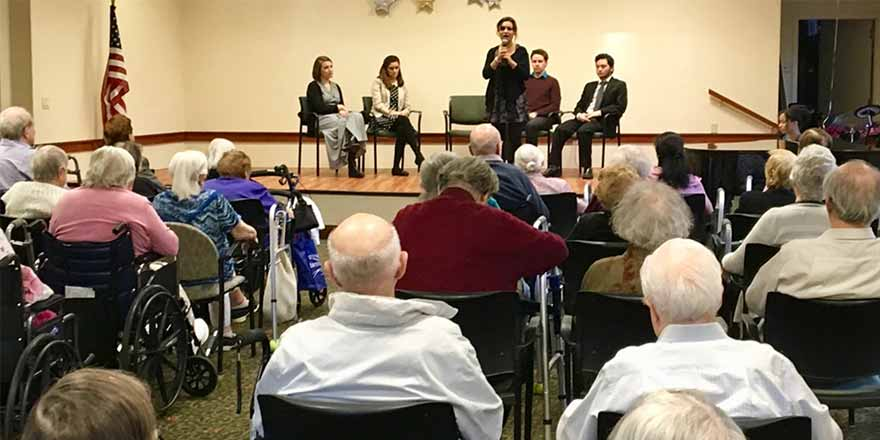 Theatre students perform for seniors at Willow Towers in New Rochelle